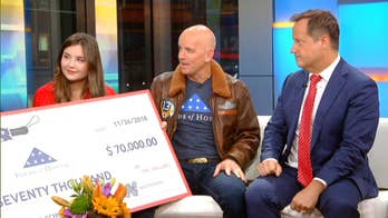 Weatherman Umbrella donates $70,000 to Folds of Honor