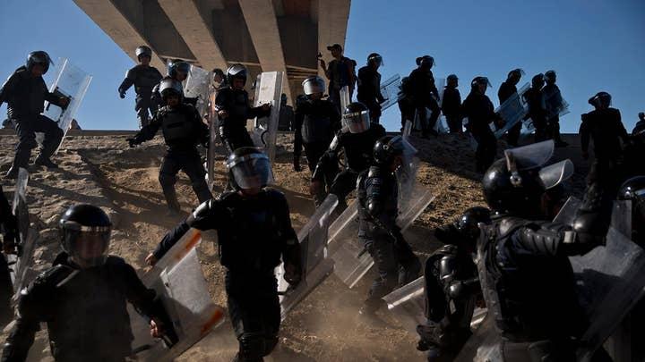 Gerry Baker: Caravan crisis lets Trump push border security