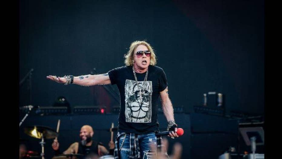 Guns N' Roses cuts show short due to Axl Rose's illness