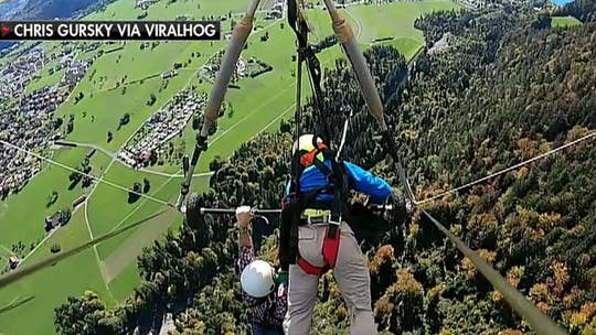Florida man describes terrifying hang glider mishap over Switzerland, hanging on for dear life