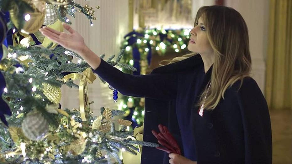 Critics bashed Melania Trump over White House holiday décor