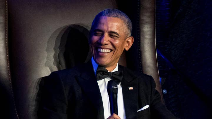 Obama touts legacy and taunts Trump team indictments