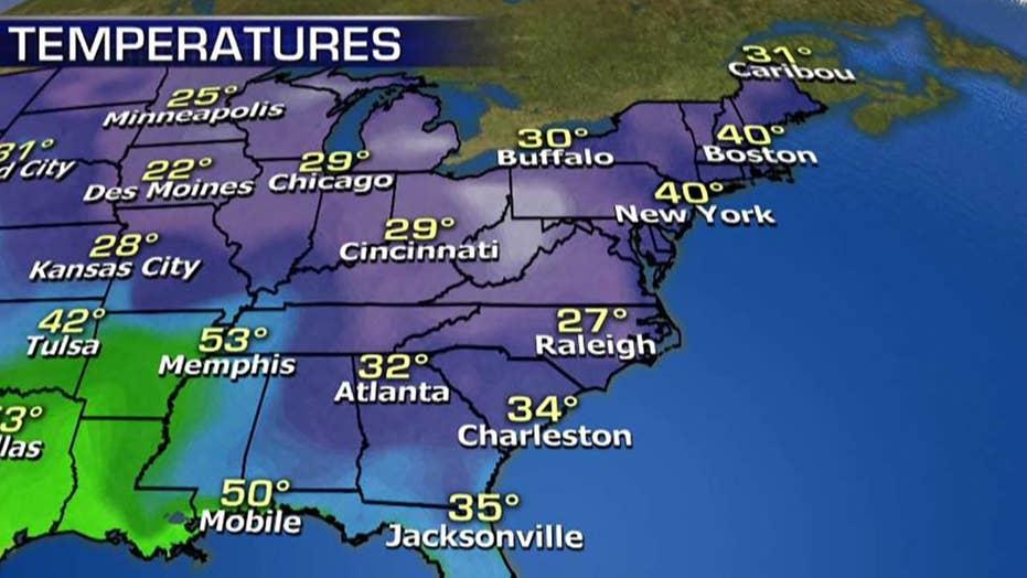 National forecast for Thursday, November 29