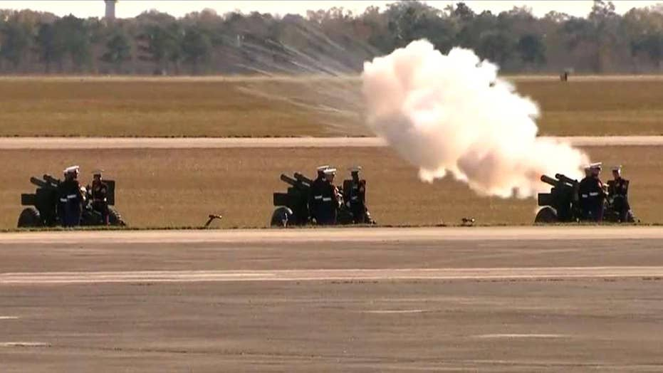 George H.W. Bush sent off with 21-gun salute in Texas