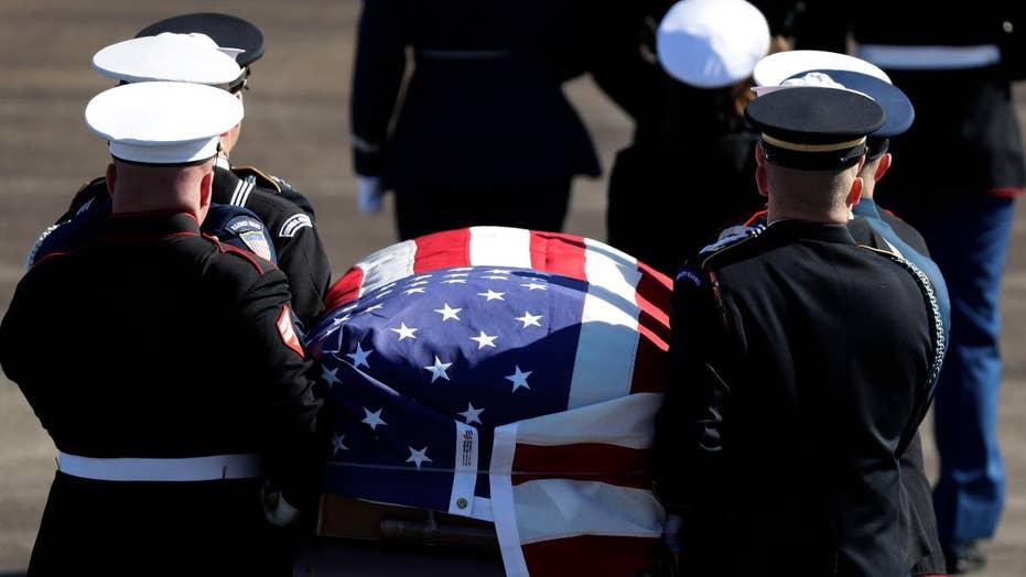 George H.W. Bush makes final trip to Washington