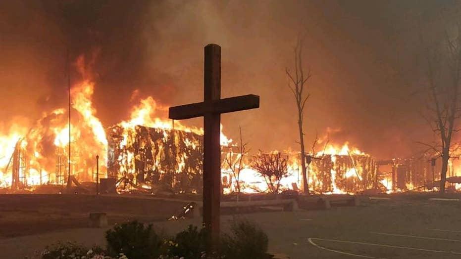 Church cross survives deadly California wildfires