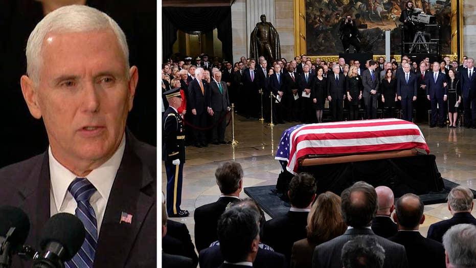 Vice President Pence eulogizes George H.W. Bush