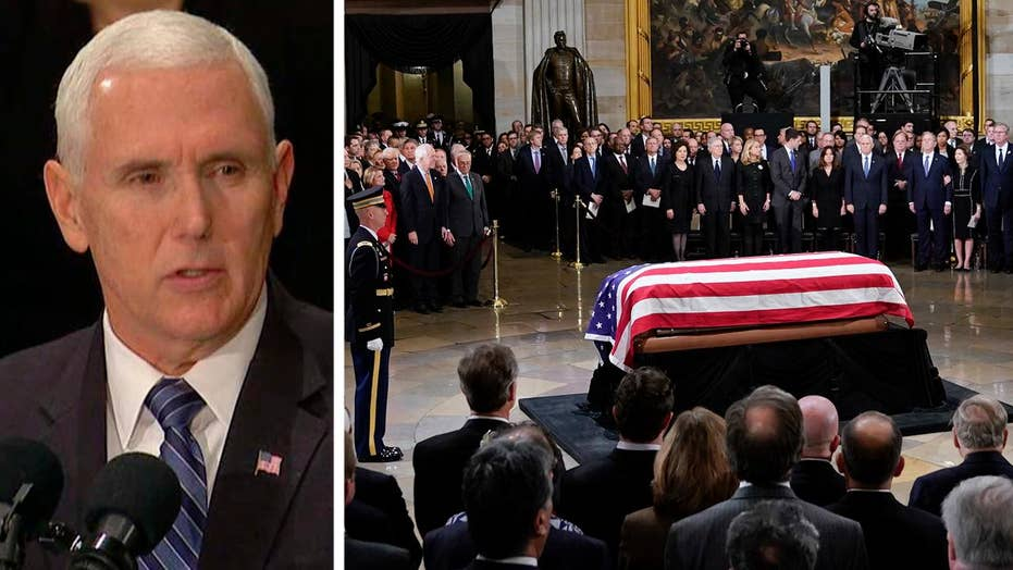 Vice President Pence eulogizes George H.W. Bush