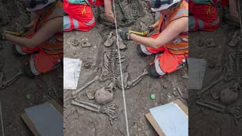 Medieval skeleton unearthed in London wearing 'expensive' leather boots