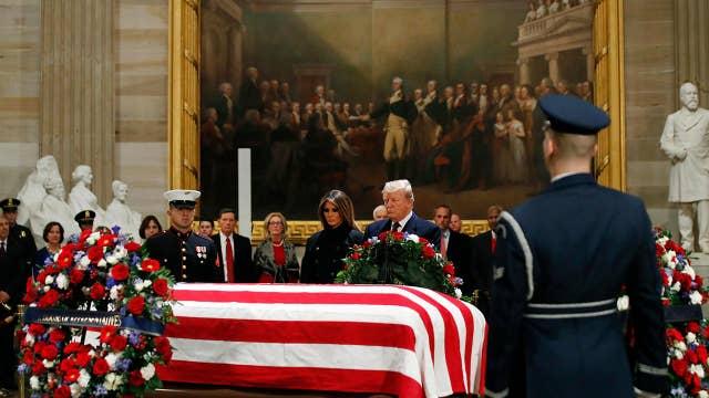 Trump, politicians honor a presidential icon