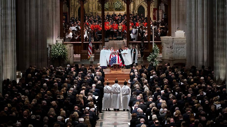 Tears and delight symbol state wake for George H.W. Bush