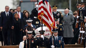 Family and friends say final goodbyes to George H.W. Bush