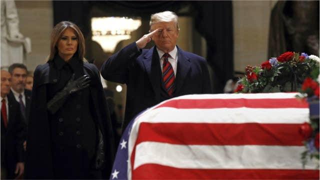 ABC News correspondents jokingly imagine Trump's funeral