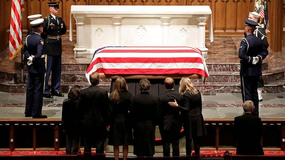 Thousands gather in Houston for final farewell to Bush