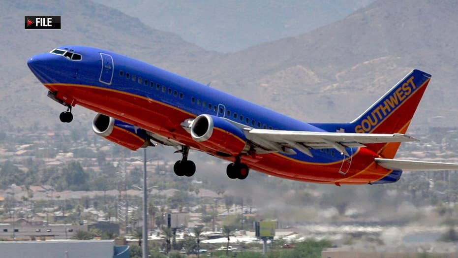 Southwest Airlines flight skids off runway at California airport