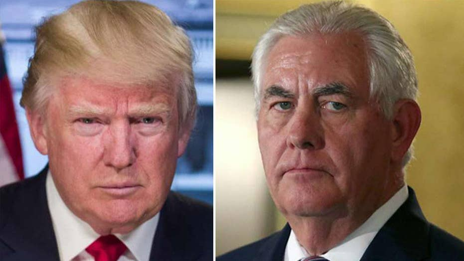 Trump tweets that Rex Tillerson is 'dumb as a rock'