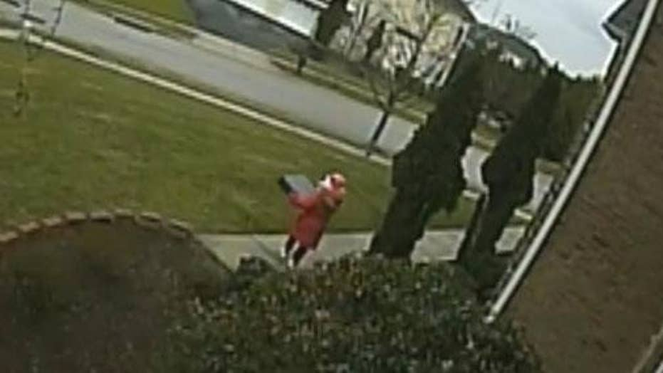 Young girl directed to steal package from doorstep