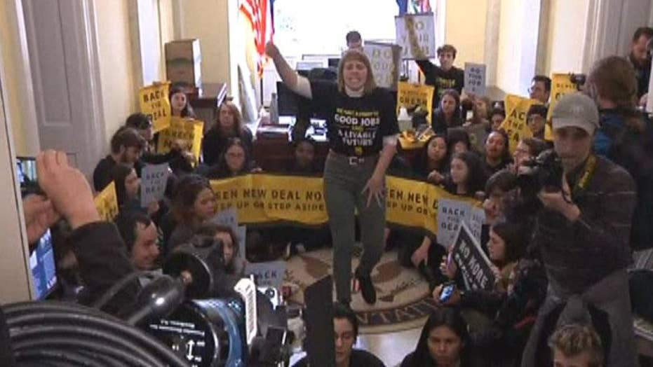 Protesters arrested at Pelosi's office