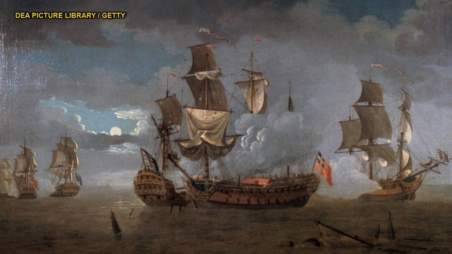 Remains of US Revolutionary War frigate discovered