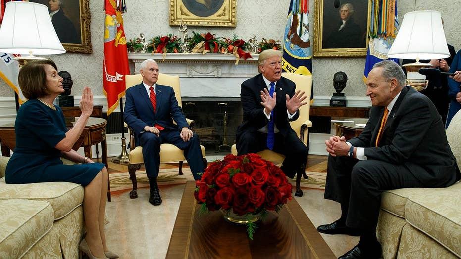 Trump trades shutdown threats with Pelosi and Schumer.