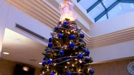 Indiana county installs blue Christmas tree in honor of officers killed in the line of duty