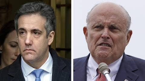 Rudy Giuliani reacts to Michael Cohen's sentencing
