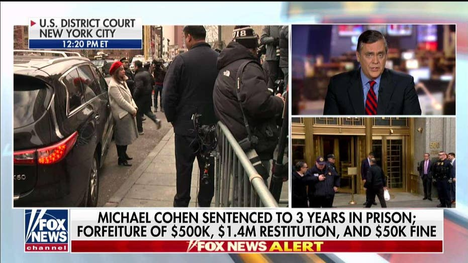 Jonathan Turley reacts to Michael Cohen sentencing