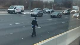 Massive haul of cash still missing after Brink's truck dumped money on NJ highway, police say