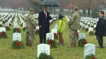 President Trump takes part in Wreaths Across America