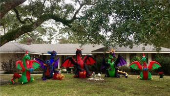 Louisiana author's Christmas dragons go viral after neighbors' flare up