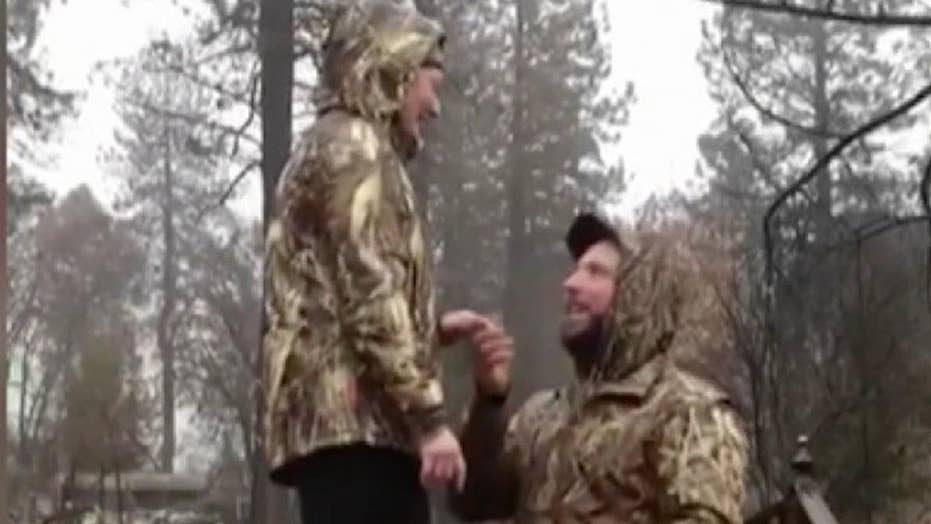 Man proposes to his girlfriend on doorstep of their home which was destroyed by California fire