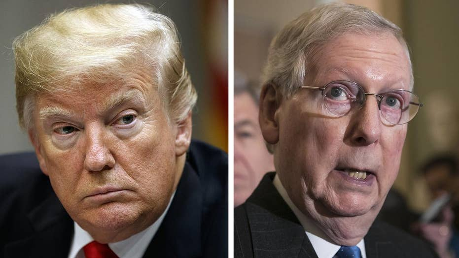 Trump drops demands to fund wall to avoid shutdown, Senator McConnell makes deal to fund government through February