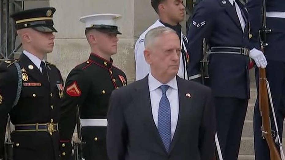 Defense Secretary Mattis turns in his resignation