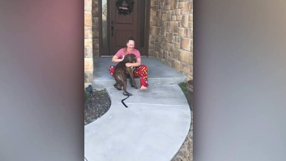 Oklahoma family gifts daughter adopted dog for Christmas in