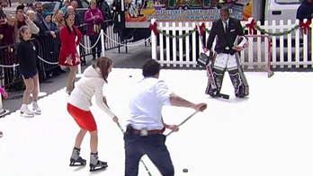 Who has the best ice hockey skills on 'Fox & Friends'?