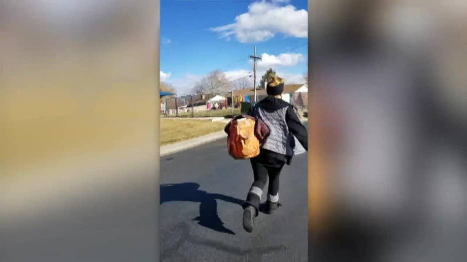 Colorado woman confronts stranger who steals a package from her front porch