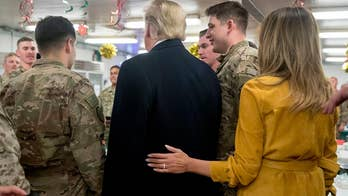 President Trump honors US troops sacrifice and service with unannounced end of year visit to Iraq