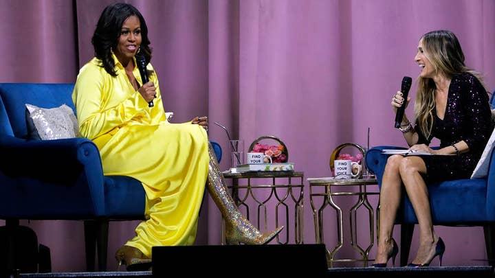 Social media goes wild over former first lady Michelle Obama's $4K designer boots