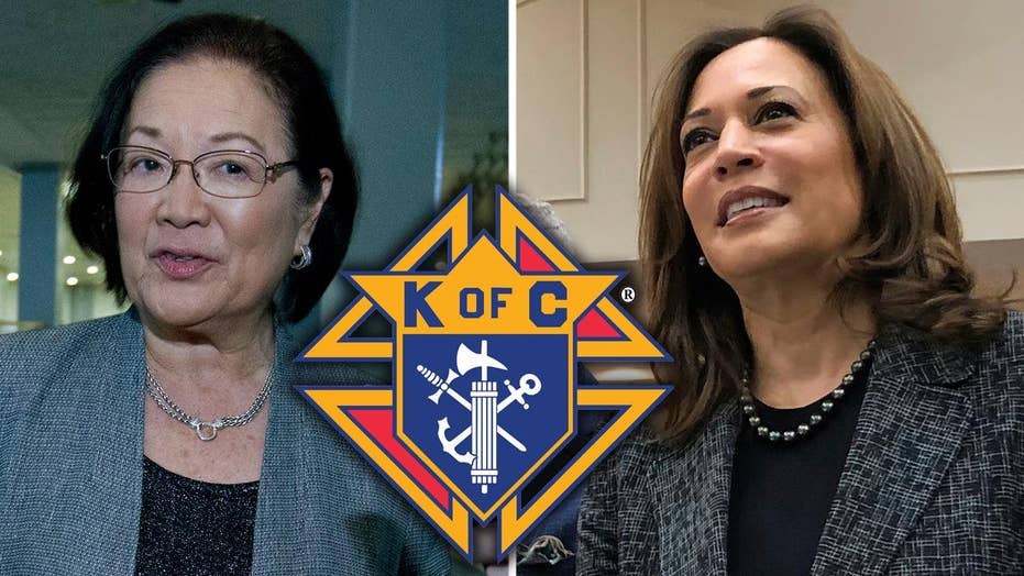 Senate Democrats Kamala Harris and Mazie Hirono criticize Trump nominee for membership in the Knights of Columbus
