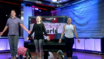 Goat yoga? Jesse Watters gives the new trend a try