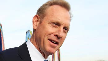 Acting Defense Secretary Patrick Shanahan arrives at the Pentagon in his first public appearance on the job