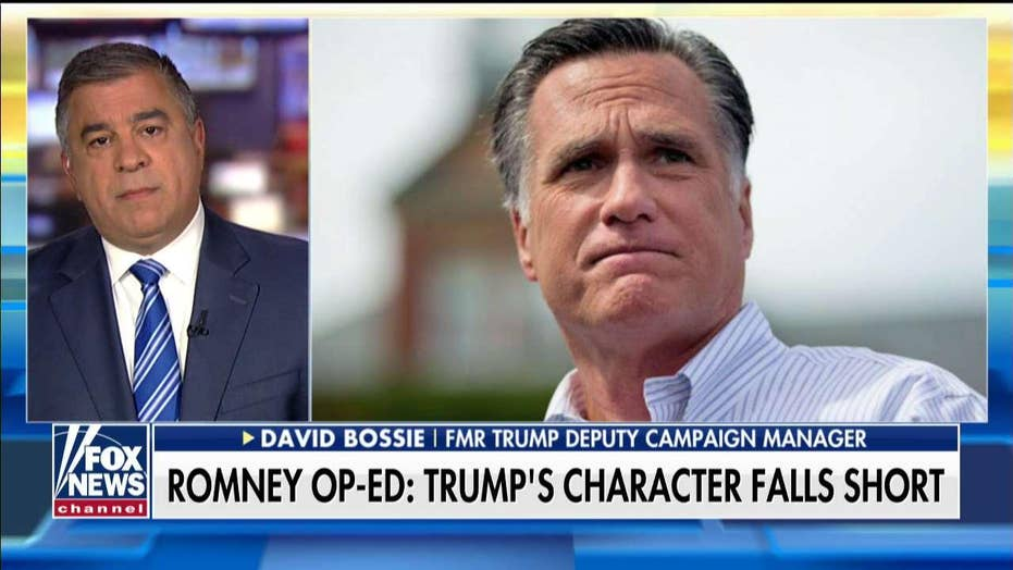 'A Pathetic Attempt By Mitt Romney for Relevancy': Bossie Slams Incoming Utah Senator's Anti-Trump Op-Ed in the Washington Post.