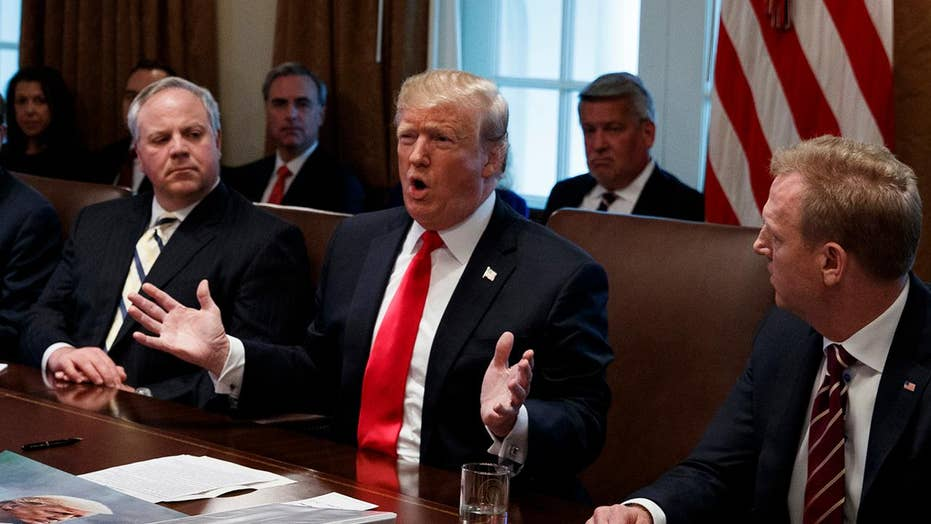 President Trump calls for border security in meeting with lawmakers