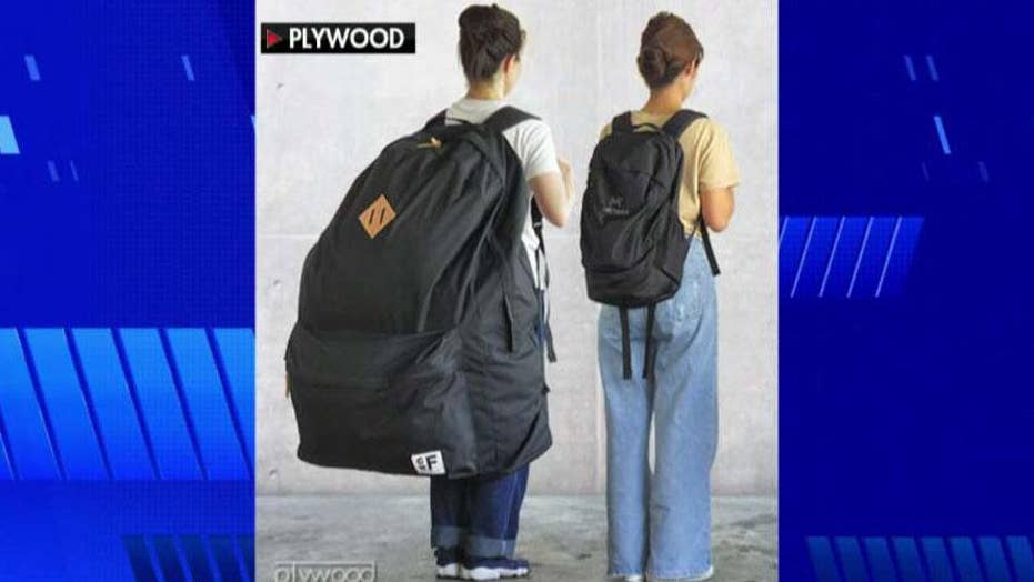 Human-sized backpack becomes latest trend