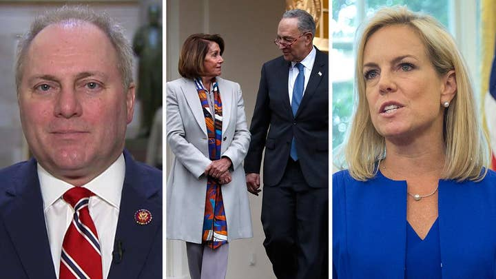 Scalise: Kirstjen Nielsen tried to explain just how serious things are at the border, Chuck and Nancy interrupted her