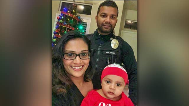 $350K raised for fallen California police officer Ronil Singh's family through the Tunnel to Towers Foundation