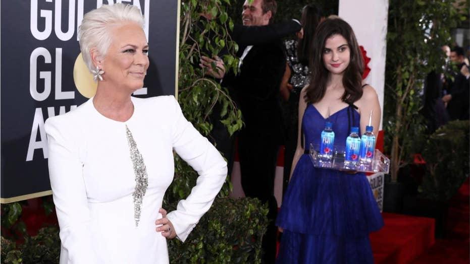 Fiji Water girl steals Golden Globes spotlight from celebrities