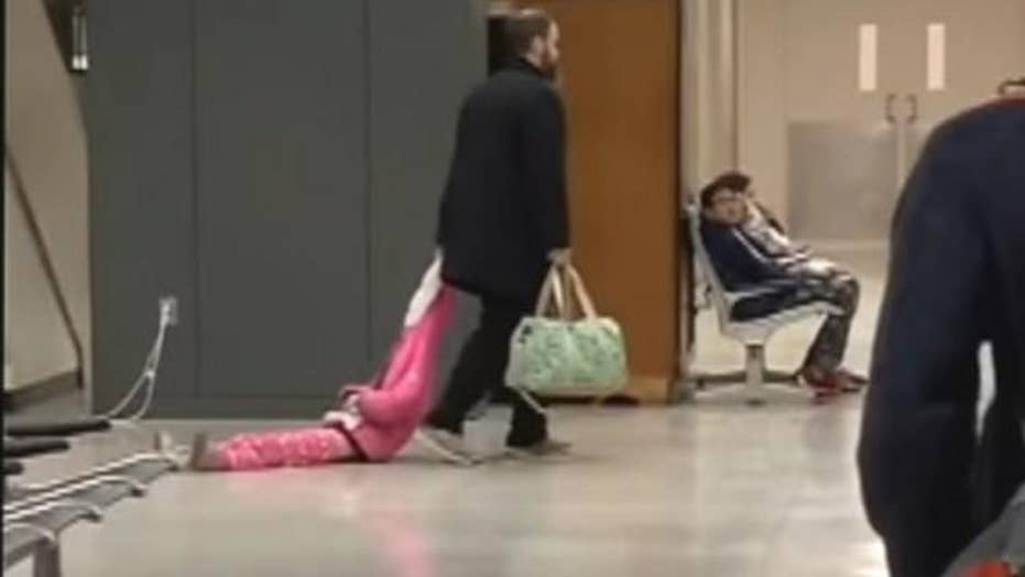 Watch this: Hilarious viral video shows dad lovingly dragging daughter through airport