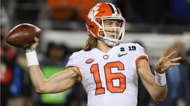 Clemson quarterback Trevor Lawrence seen shoving player during intramural basketball game