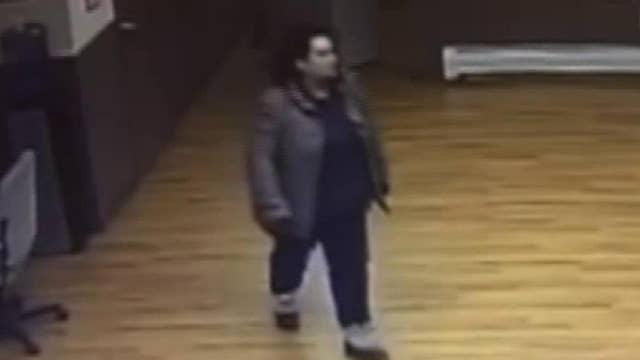 Raw video: Woman breaks into Pennsylvania police station